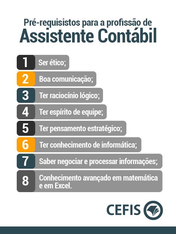 Pré-requisitos para a profissão de Assistente Contábil