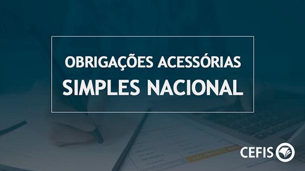 Obrigações Acessórias Simples Nacional