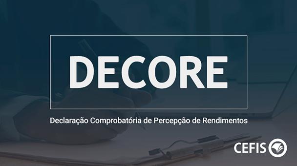 DECORE - Declaração Comprobatória de Percepção de Rendimentos