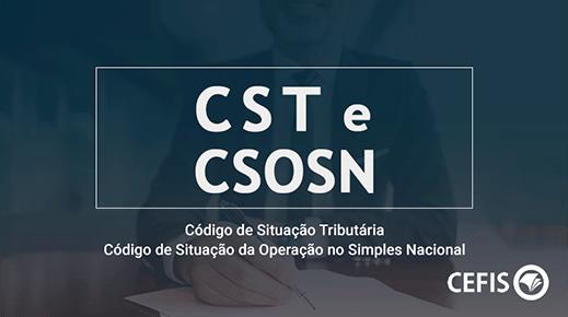CST e CSOSN – Código de Situação Tributária-