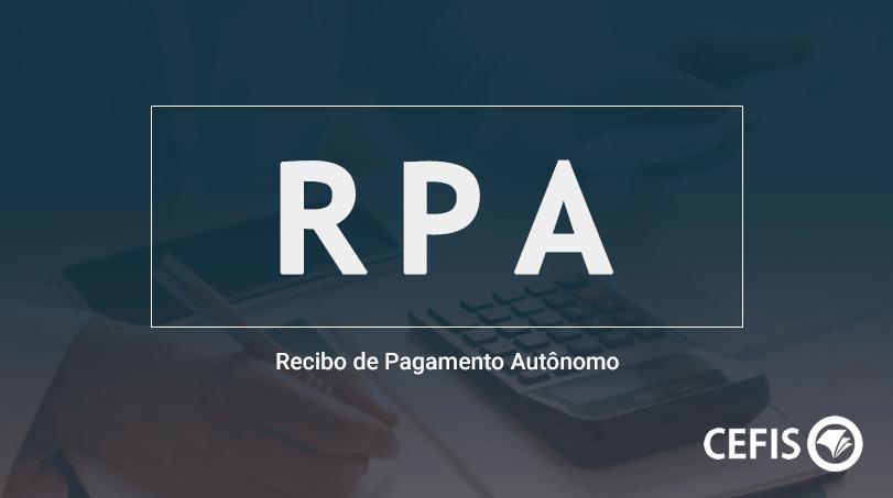 RPA - Recibo de Pagamento Autônomo